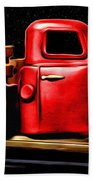 The Red Truck Bath Towel