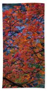 The Reds Of Autumn  Bath Towel