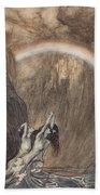The Rhine S Fair Children Bewailing Their Lost Gold Weep Hand Towel