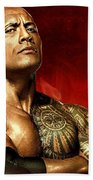 The Rock Dwayne Johnson  Bath Towel