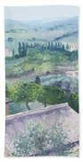 The Rolling Hills Of Tuscany Hand Towel