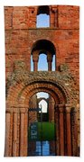 The Romanesque Doorway In The Monastery Bath Towel