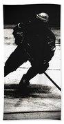The Shadows Of Hockey Bath Towel