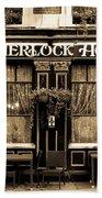 The Sherlock Holmes Pub Bath Towel