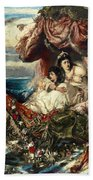 The Shipwreck Of Agrippina Bath Towel