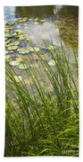 The Side Of The Lily Pond Bath Towel