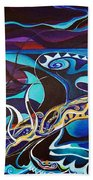 the singing of the Sirens Bath Towel