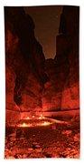 The Siq -- Petra Bath Towel