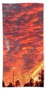 The Sky Is On Fire Bath Towel