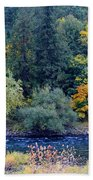 The Spokane River In The Fall Colors Bath Towel