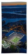 Husky Stadium At Dusk Bath Towel