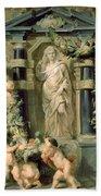 The Statue Of Ceres Bath Towel