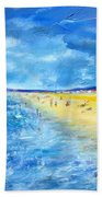 The Storm Arrives At The Beach Bath Towel