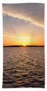 The Sun Coming Up On The Chesapeake Bath Towel