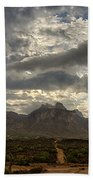 The Superstition Mountains After A Storm  Bath Towel