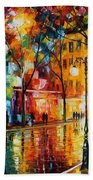 The Tears Of The Fall - Palette Knife Oil Painting On Canvas By Leonid Afremov Bath Towel