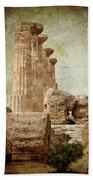 The Temple Of Heracles Bath Towel