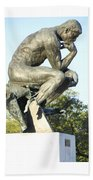 The Thinker Cleveland Art Statue Bath Towel