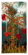 The Tree Of Hearts Bath Towel