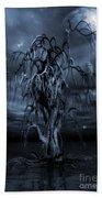 The Tree Of Sawols Cyanotype Bath Towel
