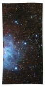 The Trifid Nebula And Messier 21 Bath Towel