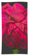The Ultimate Red Rose Bath Towel
