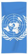The United Nations Flag  Authentic Version Bath Towel