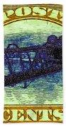The Upside Down Biplane Stamp - 20130119 - V3 Bath Towel