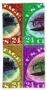 The Upside Down Biplane Stamp Four - 20130119 Hand Towel