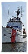 The U.s. Coast Guard Cutter Valiant Bath Towel