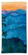 The Very Blue Ridge Bath Towel