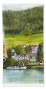 The Village Of Einruhr In Germany Bath Towel