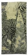 The Vintage Peacock Bath Towel