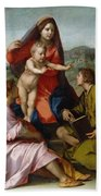 The Virgin And Child Between Saint Matthew And An Angel Hand Towel