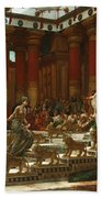 The Visit Of The Queen Of Sheba To King Solomon Bath Towel