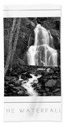 Moss Glen Falls Poster Bath Towel