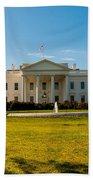 The White House In Washington Dc With Beautiful Blue Sky Bath Towel