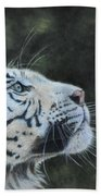 The White Tiger And The Butterfly Bath Towel
