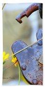 The Wise Owl Padlock - Cambria California  Bath Towel