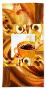 There Is A Coffee At The End Of The Tunnel  Bath Towel