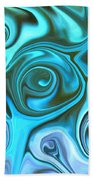 Turquoise  - Satin Swirls Bath Towel