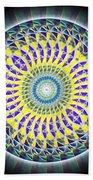 Thirteen Stage Alchemy Kaleidoscope Bath Towel by Derek Gedney