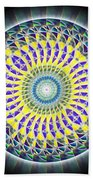 Thirteen Stage Alchemy Kaleidoscope Bath Sheet by Derek Gedney