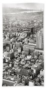 This Is Tokyo In Black And White Bath Towel