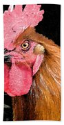 this Rooster Means Business Bath Towel