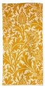 Thistle Wallpaper Design, Late 19th Bath Towel