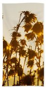 Thistles In The Sunset Bath Towel