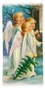 Three Angels In White Dresses Bath Towel