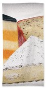 Three Cheese Wedges Distressed Bath Towel