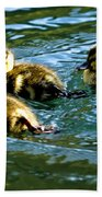 Three Ducklings Bath Towel